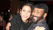 On her night off from Romeo & Juliet, Daphne Rubin-Vega gets a lift from Rent co-star Jesse L. Martin.