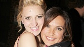 More hugs! Former SVU guest Annaleigh Ashford greets her celebrity guest.