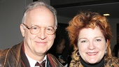 Reed Birney says hello to first-nighter Kate Mulgrew.