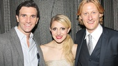 Former Glinda-turned-Kinky Boots Tony nominee Annaleigh Ashford is flanked by Kinky Boots Angels and Wicked vets Charlie Sutton and Nathan Peck.