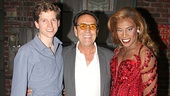 Look who's here! Robert Lindsay says hello to Kinky Boots stars Stark Sands and Billy Porter.