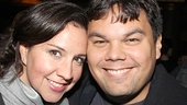 After Midnight opening night – Kristen Anderson-Lopez – Robert Lopez