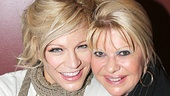 Mamma Mia! star Felicia Finley hangs out with Ivana Trump at Sardi's.