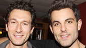 Mamma Mia! dudes Aaron Lazar and Zak Resnick relax at Sardi's after the show.