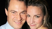 Jersey star Matt Bogart celebrates the Broadway show's big milestone with his wife, actress Jessica Boevers Bogart.