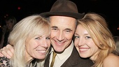Here's what happiness looks like! Mark Rylance comes in close with his wife, production music supervisor Claire van Campen, and her daughter, actress Juliet Rylance.