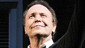 Tony winner Billy Crystal gestures to his starry crowd after his triumphant performance.