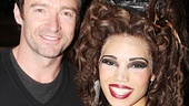 Hugh Jackman snaps a photo with Ciara Renee, who plays the mysterious Witch in Big Fish.