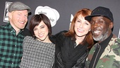 Jesse Tyler Ferguson, Krysta Rodriguez, Diane Neal and Michael K. Williams line up for a photo.