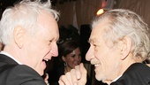 We did it! Director Sean Mathias shares a moment with his star and former beau, Ian McKellen.