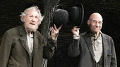 Bravo! Waiting For Godot stars Ian McKellen and Patrick Stewart salute the cheering crowd.