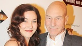 Patrick Stewart enjoys the opening night festivities with his wife, Sunny Ozell. (Fun fact: The couple's wedding was officiated by Ian McKellen!)