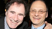 Broadway mainstays Richard Kind and Michael Mastro share a laugh at the party.