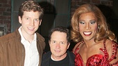What a trio! Michael J. Fox is flanked by Tony nominee Stark Sands and Tony winner Billy Porter.