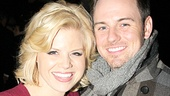Megan Hilty takes a picture-perfect portrait with her husband, actor Brian Gallagher.