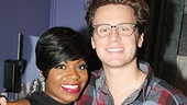 Look who else came backstage to say hello to the fabulous Fantasia: It's Jonathan Groff!