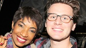 The lovely Adriane Lenox is next up for a snapshot with Jonathan Groff.