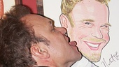 Get a room! Norbert Leo Butz spends some quality time with his own Sardi's portrait.
