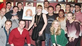 The cast of Big Fish rallies around Kate Baldwin and the new work of art—see it in person at Sardi's in Times Square!
