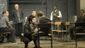 Ben Whishaw as John Proctor, Tavi Gevinson as Mary Warren and the cast of Arthur Miller's The Crucible.