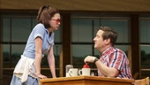 Kimiko Glenn as Dawn and Christopher Fitzgerald as Ogie inWaitress.