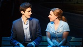 Drew Gehling as Dr. Pomatter and Jessie Mueller as Jenna in Waitress.