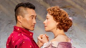 Daniel Dae Kim as The King of Siam and Marin Mazzie as Anna in The King and I.