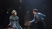 Alex Finke as Cosette, Brennyn Lark as Eponine and Chris McCarrell as Marius in Les Miserables. Photo by Matthew Murphy