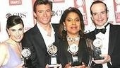 The four big acting winners of the night:Idina Menzel, Hugh Jackman, Phylicia Rashad and Jefferson Mays.