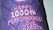Hairspray 1000th Perf - close-up of cake
