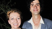 They appeared in Twelfth Night together in the park last summer, and now Julie White congratulates Hamish Linklater for his performance as Bassanio.