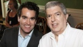 Also spotted with Hamlisch was Brian d'Arcy James, who had finished his run in Next to Normal the day before the event.
