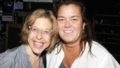 Two very funny ladies together! Rosie O'Donnell was also a fan of Broadway.com video blogger Jackie Hoffman's last hit show, Xanadu.