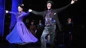 Gavin Lee and Laura Michelle Kelly step in time to thunderous applause at their curtain call.
