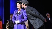 Gavin Lee plants a kiss on his leading lady, Laura Michelle Kelly.