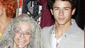 We can only imagine the hilarious things resident Broadway.com video blogger Jackie Hoffman had to say to teen heartthrob Nick Jonas!