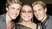 Elizabeth Ashley has double the fun with her stage sons, Zachary Booth and Preston Sadleir. 