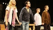 Laura Linney, Brian d'Arcy James and Eric Bogosian enjoy their second Time Stands Still opening night curtain call, while newcomer Christina Ricci takes her first Broadway bow.