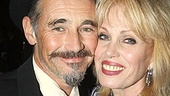 Cheers! Mark Rylance toasts to his co-star Joanna Lumley.