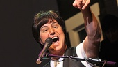 "Paul McCartney (Joey Curatolo) gets the audience in on the fun during sing-a-long favorite ""Hey Jude."""