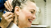 Cherry Jones backstage at Mrs. Warrens Profession