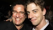 Director Michael Greif gets an opening night squeeze from Christian Borle, who plays Prior Walter in Signature Theatre's off-Broadway mounting of Angels.