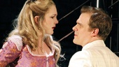 Lily Rabe as Portia and David Harbour as Bassanio in The Merchant of Venice.