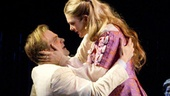 David Harbour as Bassanio and Lily Rabe as Portia in The Merchant of Venice.