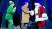 Sebastian Arcelus as Buddy, Mark Jacoby as Walter and George Wendt as Santa Claus in Elf.