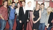 "Jason Danieley's Next to Normal ""family"" is on hand to support the star. From left: understudies Michael Berry, Brian Crum and Kathy Voytko; Danieley, Marin Mazzie, Kyle Dean Massey and understudy Mackenzie Mauzy."