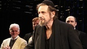 The man of the evening, Al Pacino, is reprising his summertime star turn as one of Shakespeare's most complicated and celebrated roles; the moneylender Shylock.