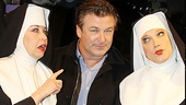 Uh oh! Has Alec Baldwin sinned? Nutty nuns Julie Halston and Charles Busch point a finger at the Emmy-winning actor.