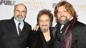 The men behind Merchant: director Daniel Sullivan, star Al Pacino, and Public Theater artistic director Oskar Eustis