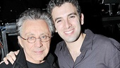A parting shot of Frankie Valli and the actor who channels his amazing voice onstage, Jersey Boys star Jarrod Spector.